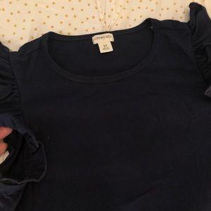 Crewcuts Navy Blue Girls Shirt 14